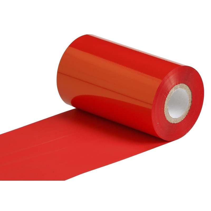 """Термотрансферная красящая лента (Красный) Риббон WAX Premium (RED) 104*300 1"""" Out"""