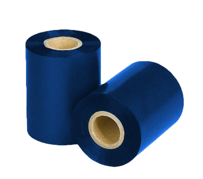 "Термотрансферная красящая лента (Синий) Риббон WAX Standart (Blue) 110*300 1"" Out"