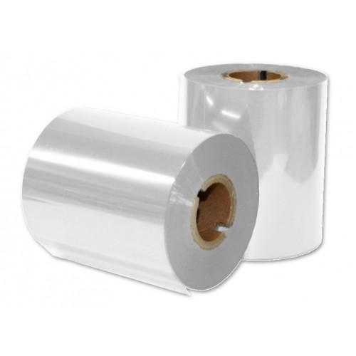 "Термотрансферная красящая лента (Серебро) Риббон WAX Standart (Silver) 110*74 1/2"" Out"