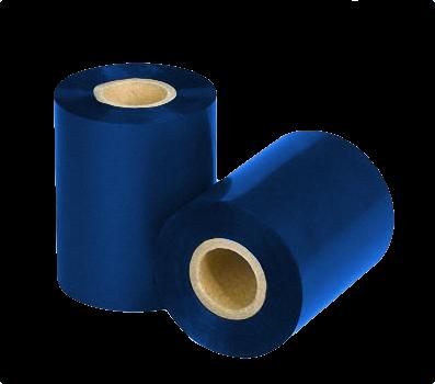 "Термотрансферная красящая лента (Синий) Риббон WAX Premium (Blue) 110*300 1"" Out"