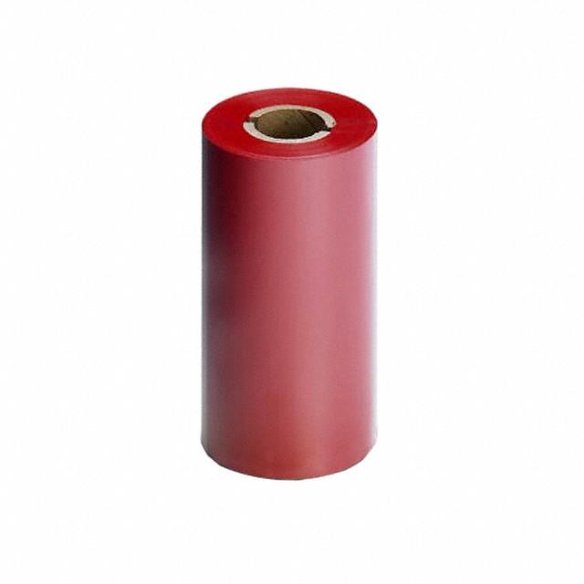 """Термотрансферная красящая лента (Красный) Риббон WAX Standart (RED) 110*74 1/2"""" Out"""