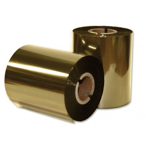 """Термотрансферная красящая лента (Золото) Риббон WAX Standart (Gold) 50*300 1"""" Out"""