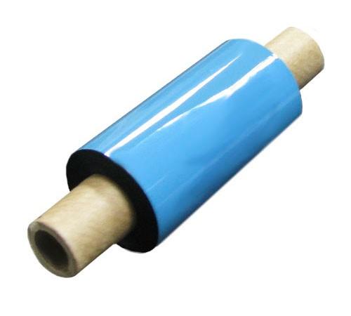 "Термотрансферная красящая лента (Синий) Риббон WAX Premium (Blue) 57*74 1/2"" Out"