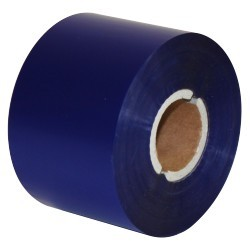 "Термотрансферная красящая лента (Синий) Риббон WAX Premium (Blue) 65*300 1"" Out"
