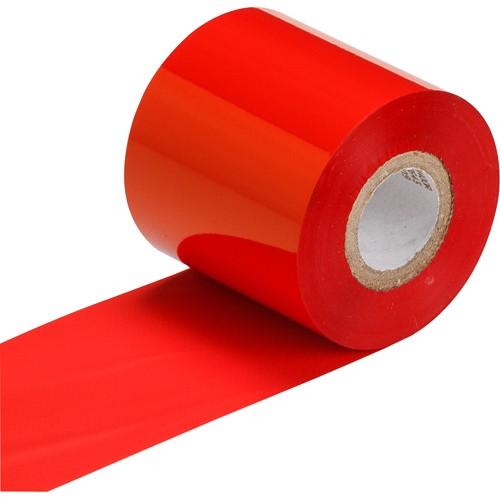 """Термотрансферная красящая лента (Красный) Риббон WAX Premium (RED) 65*300 1"""" Out"""