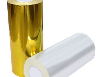 """Термотрансферная красящая лента, Риббон Resin (Золотой) 55*74, вт. 1/2"""" Out"""