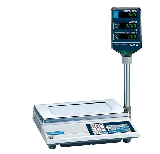 Электронные торговые весы CAS AP-1 15M 15-2.5