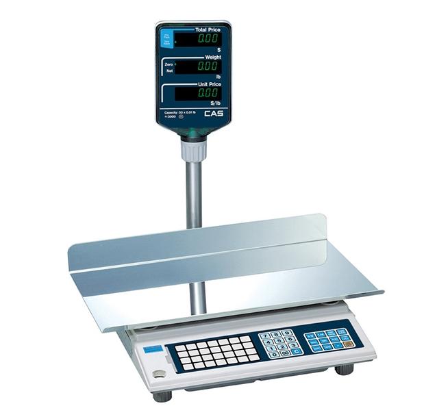Электронные торговые весы CAS AP-1 15EX BT (увеличенная платформа)